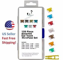 120pc MICRO Blade Fuses Assorted Assortment Auto Car Truck Motorcycle Kit Set  $9.08