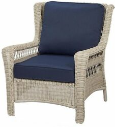Outdoor Wicker Chair Patio Lounge Pool Seat Cushion Weather Resistant Padded NEW