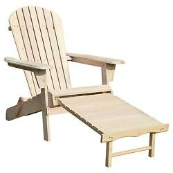 Adirondack Chair Kit with Pullout Ottoman -Northbeam