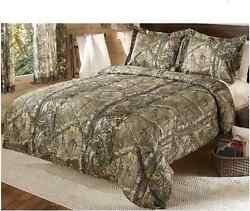 Wildlife Comforter Set Queen Quilt Sleeping Gear Bed Warmth Camouflage Pattern