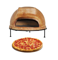 Portable Clay Tile Pizza Stone Oven Brick Wood Burning Outdoor Cooking