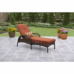 Rattan Chair Deck Cushions UV Chaise Lounge Outdoor Patio Furniture Wicker Pool