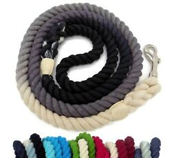 5ft Ombre Rope Dog Leash Handmade Braided Cotton Heavy Duty Durable Strong Dyed