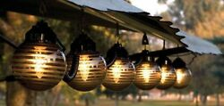 Outdoor Patio String Lights RV Deck Porch Awning Globe Set Camping Trailer Party