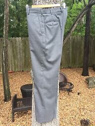 Howard Yount mid gray tropical wool trousers pants size 32-used