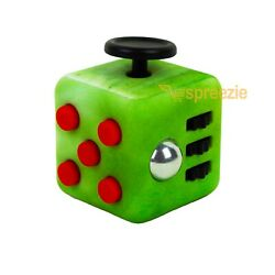 Green Gas Fidget Block Toy Anxiety Stress Relief Focus Attention Cube Square $4.99