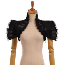 Victorian Vintage Mini Ruffle Shawl Choker Collar Detachable Collar Steampunk $11.99