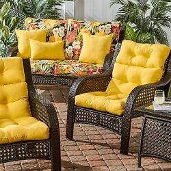 Patio Chair Replacement Cushion Set Of 2 Seat Pad Outdoor Garden Cushion Sunbeam