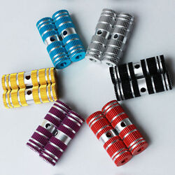 Round Colorful Aluminium Alloy Foot Pegs For Fixie Bike BMX Kid Bicycle 2 PCS $9.50