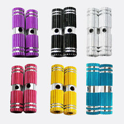 2 PCS Colorful Kid Alloy Bike Stunt Foot Pegs for Bike Bicycle BMX Fixie Axle $8.99