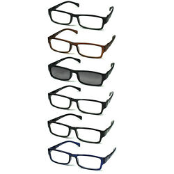 6-pack Spring Hinges Reading Glasses Unisex (5+1 Sunglasses Reader)