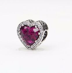 Charms Radiant Hearts Inferno Red Crystal & Clear CZ