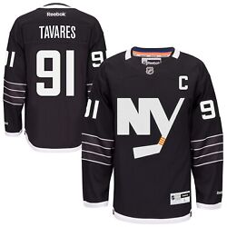 New Men's REEBOK NHL PREMIER JERSEY John Tavares Black Alternate NY Islanders