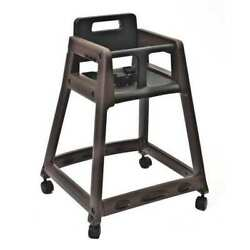 CSL FOODSERVICE AND HOSPITALITY 850C-BRN-KD Plastic High Chair WCasters