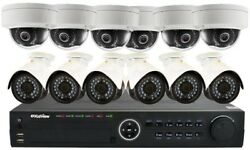 Surveillance System 16 Channel Hd Ip Indoor Outdoor 3tb 1080p Camera Remote View