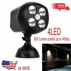 LOT 600 lm Lights 4LED Wireless Waterproof Motion Sensor Outdoor Light Security