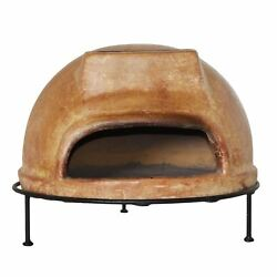 Outdoor Clay Pizza Oven Wood Burning Rustic Liso Grill Stand Patio Space Heater