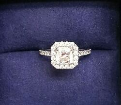Hearts on Fire Engagement Ring 1.67 ct. Transcend Premier Dream Halo - platinum