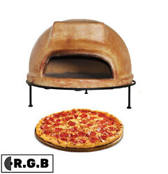 Portable Clay Tile Pizza Stone Oven Brick Cement Wood Burning Outdoor Cooking