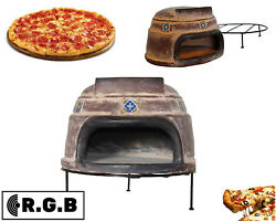 Talavera Tile Clay Pizza Stone Oven Brick Cement Wood Burning Outdoor Cooking