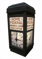 Architectural Salvage Exterior Four Sided Bank Clock