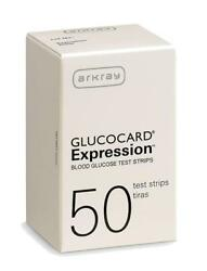 Arkray Glucocard Expression Diabetic Test Strips 50ct. 1 box *NEW* *Free Ship* $9.29