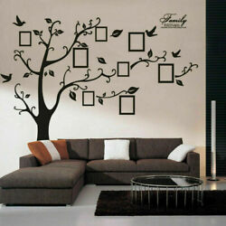 Large Removable Family Tree Wall Decal Sticker Vinyl Photo Pictures Frame Black $12.87