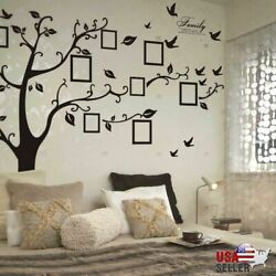 Large Family Tree Wall Decal Sticker Removable Vinyl Photo Pictures Frame Black $10.48