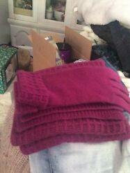 Ladies 100% Cashmere   Scarf. And.  Glove.  Set.  All. Cashmere. By. Anntaylor