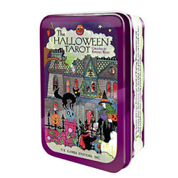 NEW Halloween Tarot Deck in Collectible Tin Kipling West US Games Mini Cards $20.99
