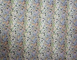 UPHOLSTERY FABRIC TAPESTRY MOUNTAIN CABIN RUSTIC LEAF FURNITURE by