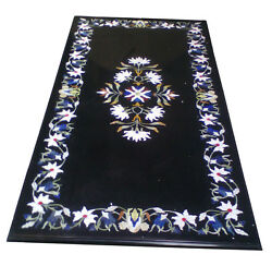 Size 6'x3' Marble Dining Table Top Mosaic Inlay Marquetry Art Patio Decor H1971A