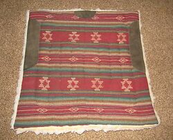 Western Saddle Pad Wool South Western Design  Used Western Cabin Decor