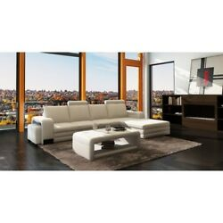 Woman Cave 2 Piece Living Room Set White She Shed Coffee Table w Sectional Sofa