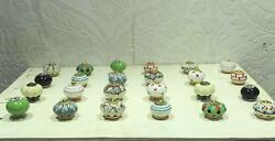 Vtg Ceramic Knob Drawer Handle Pull 24 Pc Door Multicolored Cabinet Lot PAG 266