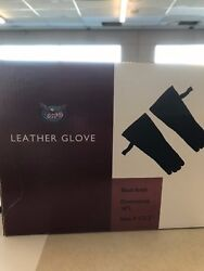 18' LONG LEATHER GLOVES FOR FIREPLACE USE