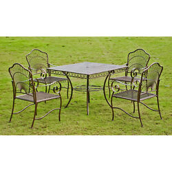 Patio Furniture Sets Clearance 5 Piece Outdoor Dining Metal Table Lawn Iron Yard