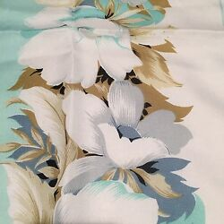 JACQMAR of London TealWhite Floral Scarf 29 12