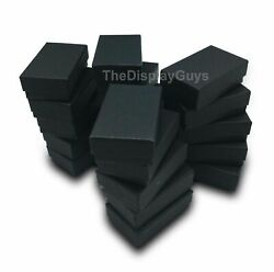 100 pcs Matte Black Cotton Filled Jewelry Gift Boxes With Variety Of Sizes $28.99