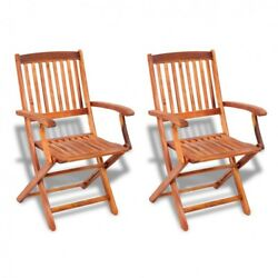 Wood Folding Outdoor Chairs Dining 2 Piece Acacia Patio Garden Furniture New