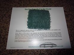 ORIGINAL Piece of Astrodome AstroTurf 1978 with Certificate PERFECT Condition