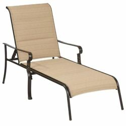 Outdoor Padded Chaise Lounge Steel Frame Belleville Patio Pool Chaise Lounger
