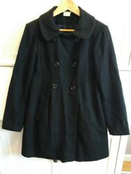 Black wool blend jacket American Star small (I also used as maternity coat)
