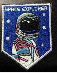 Hero Explorer NASA Astronaut Space Center Embroidered Iron  Sew On Patch Badge