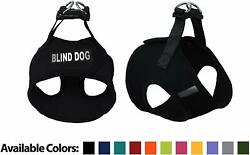 Blind Dog Mesh Easy Step In Padded Soft Puppy Pet Dog Harness Custom Patch $15.99