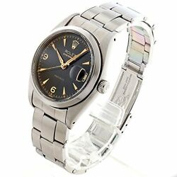 Rolex Oyster Date Cal.1215 6494 Black  Wedge [Antique] Mens