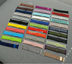 For Apple Watch Series 5 4 3 2 38 42 40 44 mm Band Nylon Silicone Sports Band