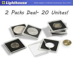20 Lighthouse Quadrum 27mm Square 2x2 Coin Capsules Holders US Small Dollar
