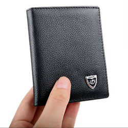 Men#x27;s Leather Bifold ID Credit Card Holder Wallet Small Purse Billfold Thin $8.99