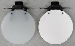 Eye Patch - WHITE OPAQUE WHITE SOLID or BLACK - Clip On  Flip Up Occluder